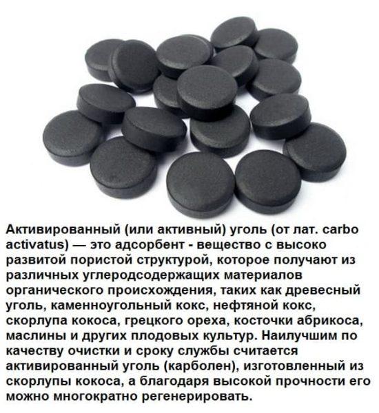 О пользе активированного угля в составе маски