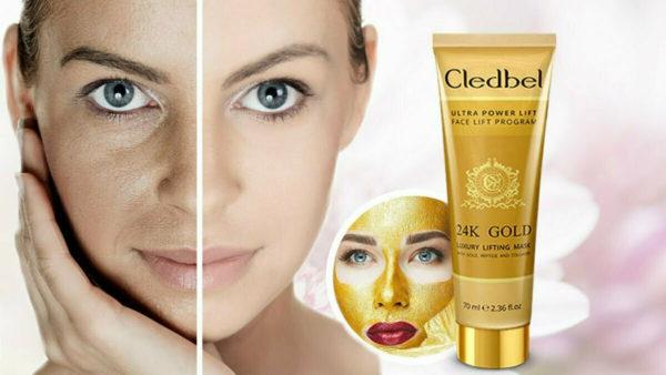 золотая маска для омоложения Cledbel Ultra Lift 24k gold